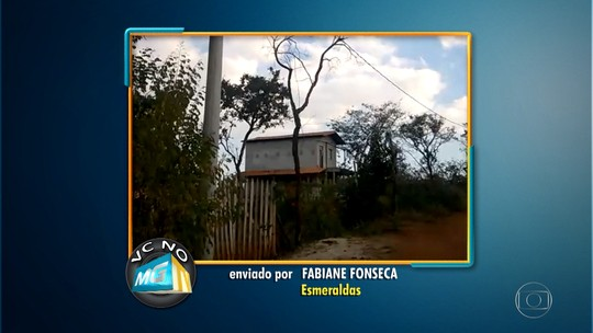 Moradora de Esmeraldas reclama da falta de iluminação em rua