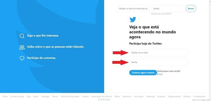 Twitter é um microblog que permite fazer postagens de até 280 caracteres (Foto: Reprodução/Clara Barreto)