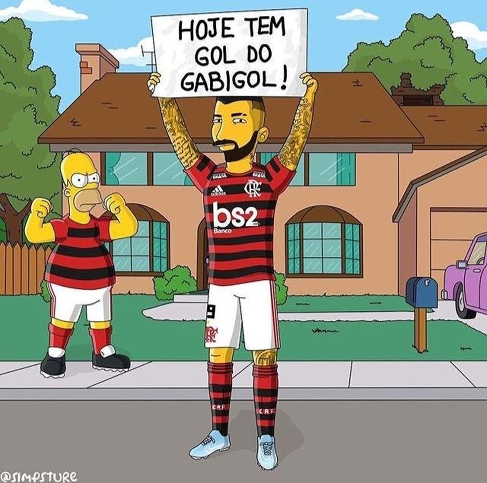 Meme - gol do Gabigol — Foto: Reprodução/Twitter