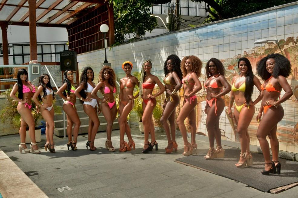 Selecionadas as 12 finalistas do concurso Rainha do Carnaval de Salvador — Foto: Divulgação