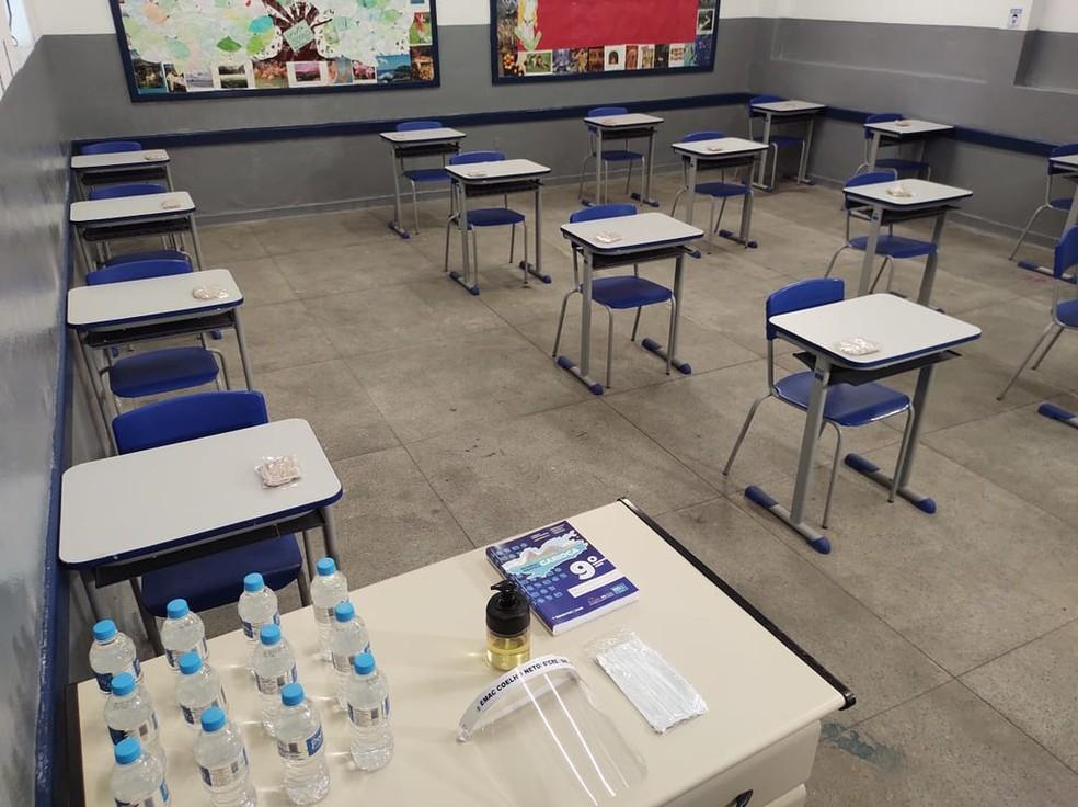 Escolas do Rio foram adaptadas para receberem alunos durante pandemia de Covid-19 — Foto: Divulgação/Prefeitura do Rio