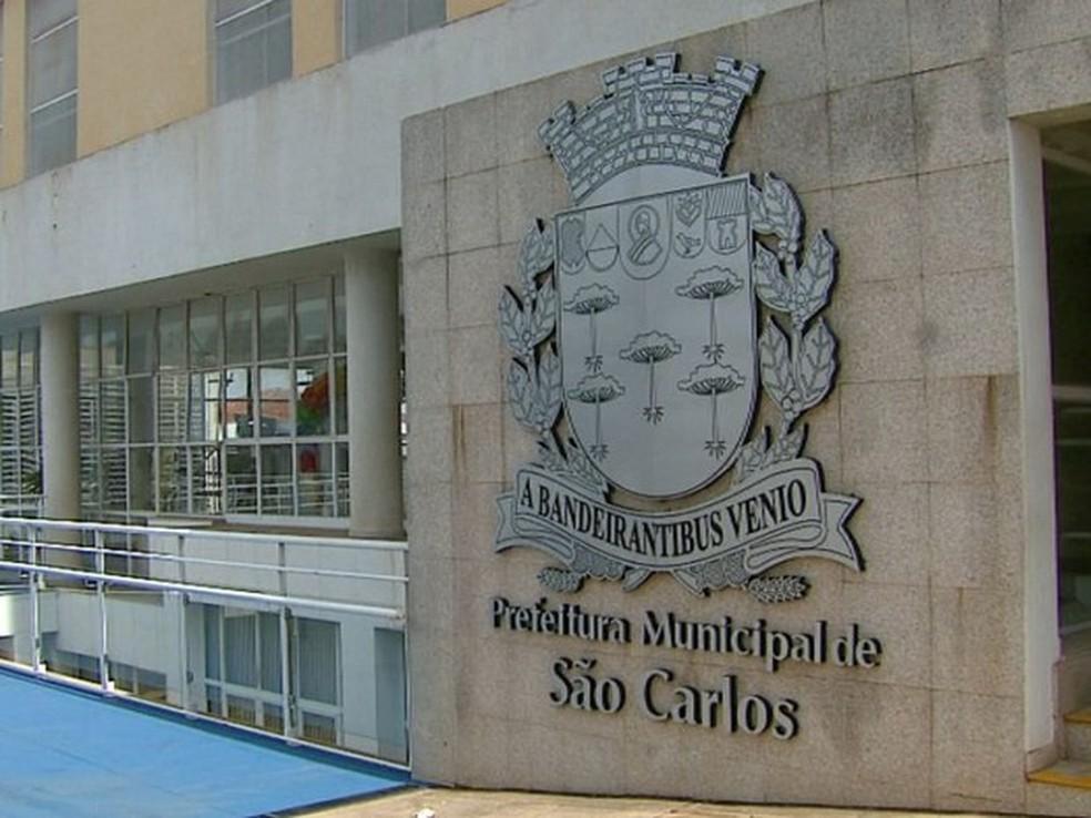 Prefeitura de São Carlos (Foto: Ely Venâncio/EPTV))