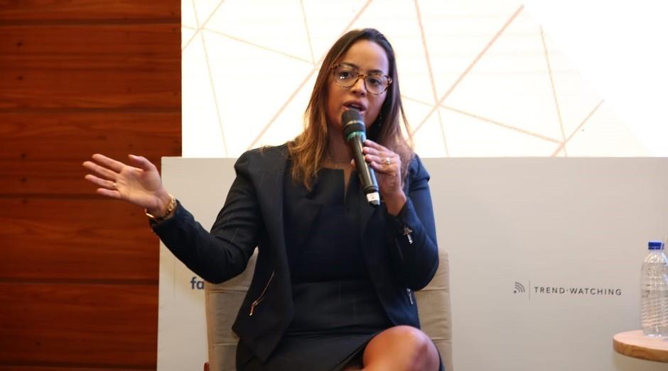Camila Farani, empreendedora e investidora-anjo, durante o FICE 2018 (Foto: Alexandre Dipaula)