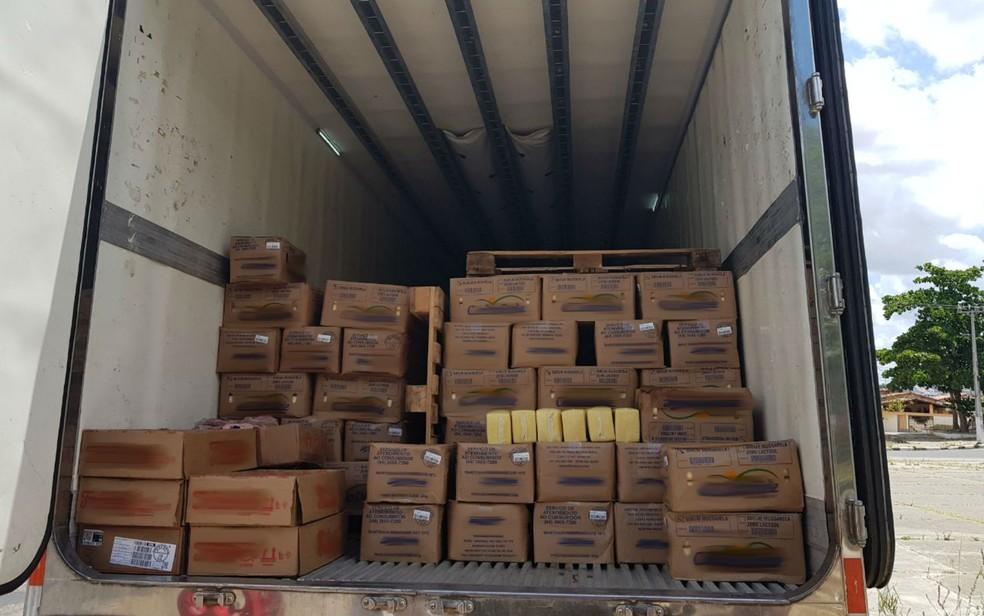 Carga roubada foi recuperada (Foto: Divulgação/SSP-BA)