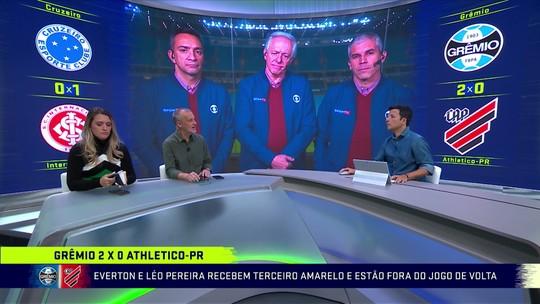 """Comentaristas elogiam Grêmio na vitória contra o Athletico: """"Voltou a ser o Grêmio que encantou"""""""