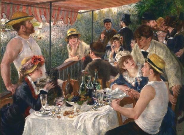 """""""Le Déjeuner des Canotiers"""" foi feita entre 1880 e 1881 (Foto: The Phillips Collectionr/ Reprodução)"""