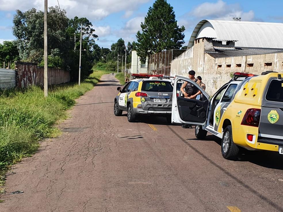 Reconstituição da morte de Layane da Silva foi realizada, nesta quarta-feira (12) — Foto: Bruno Fávaro/RPC