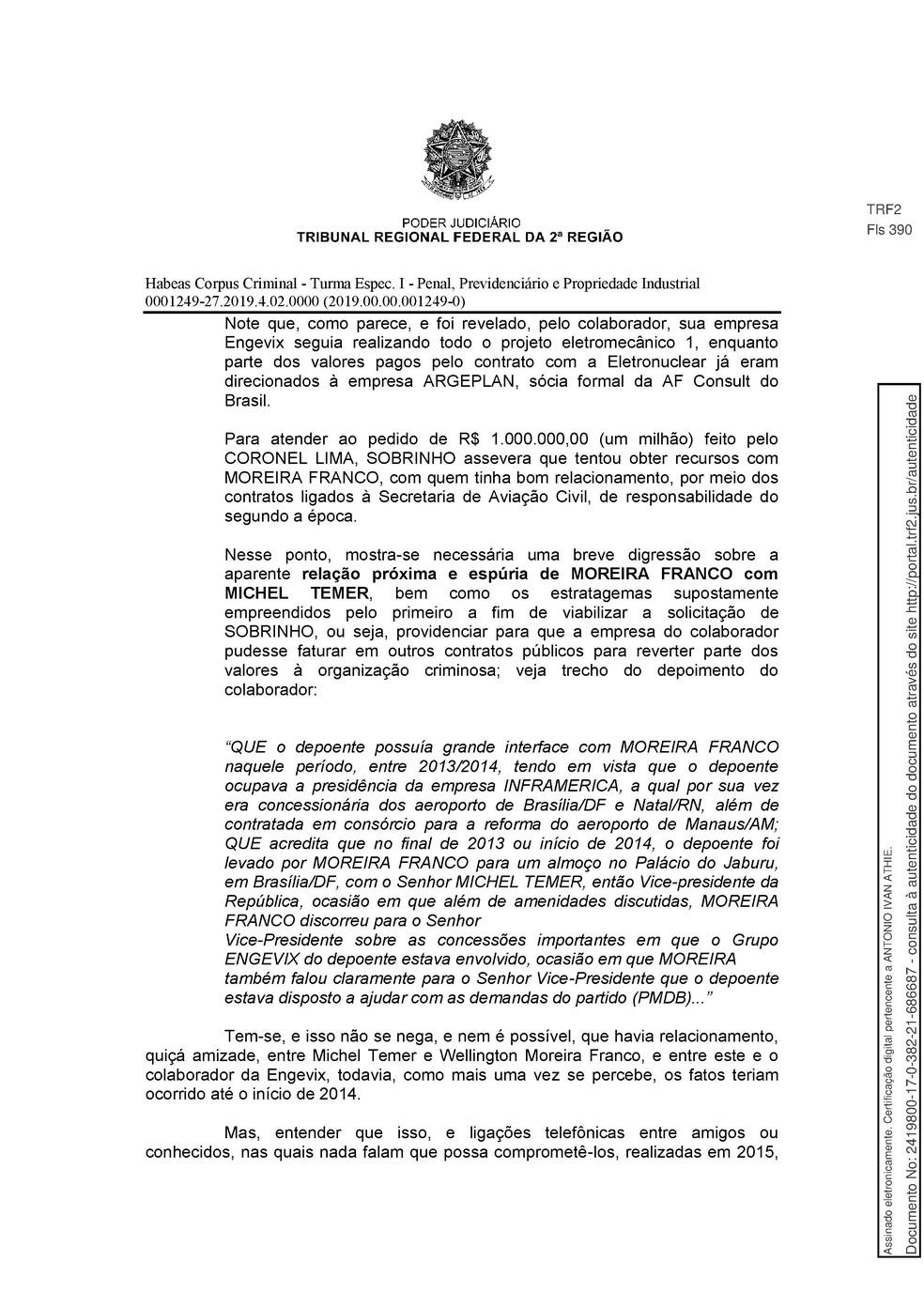 Decisão TRF 2 - pg 9 — Foto: Reprodução