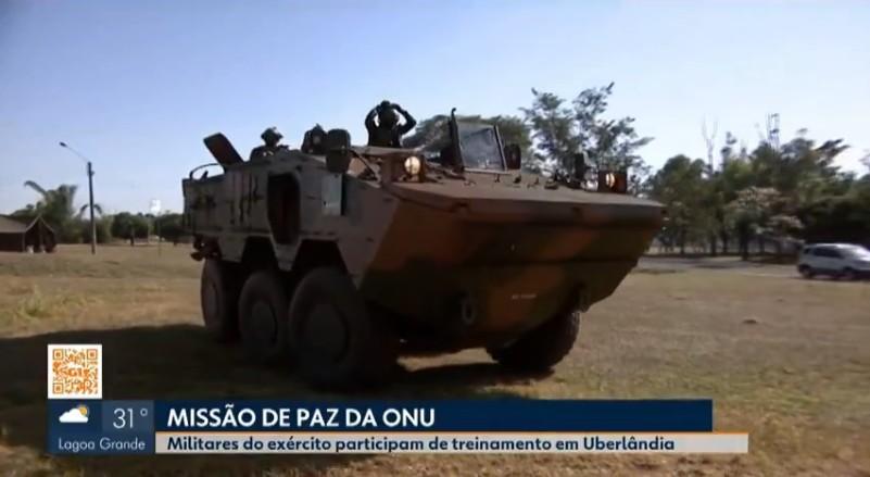 Batalhão do Exército em Uberlândia participa de treinamento da ONU