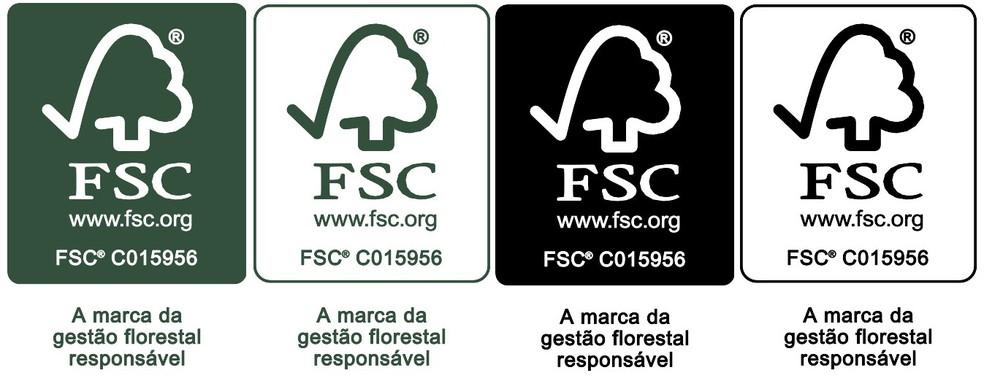 Selos do FSC para produtos de madeira certificada — Foto: Divulgação