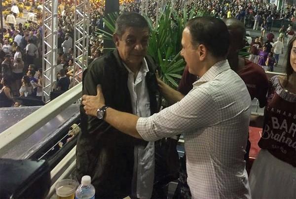 Zeca se recusa a tirar foto com prefeito de São Paulo  (Foto: Tatiana Santiago/G1)