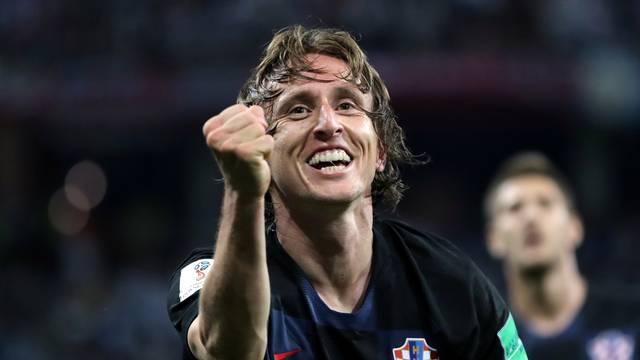 Modric comemora o segundo do da Croácia