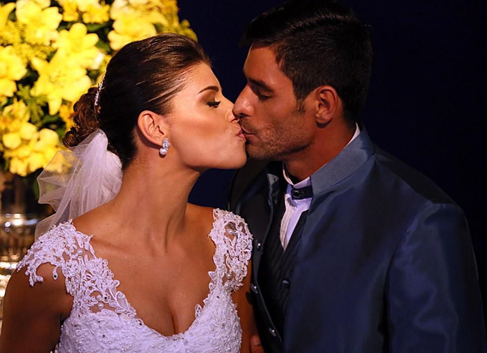Fran e Diego estão casados desde 2015 (Foto: Isabella Pinheiro/Gshow)