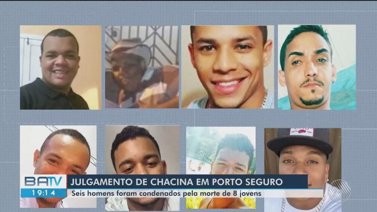 Seis homens foram condenados por envolvimento em chacina na cidade de Porto Seguro