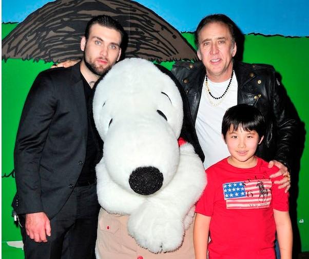 Nicolas Cage com os filhos Weston e Kal-El (Foto: Getty Images)