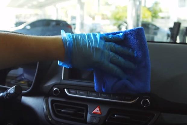 Desinfecção Hyundai Multimídia (Foto: Divulgação)