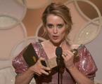 Claire Foy, de 'The crown', no Globo de Ouro | Reprodução/Twitter