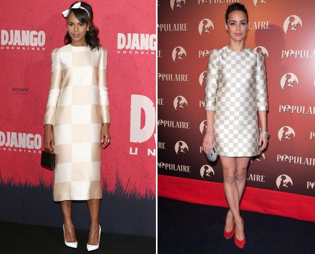 Tons mais suaves foram as escolhas de Kerry Washington e Bérénice Béjo (Foto: Getty Images)