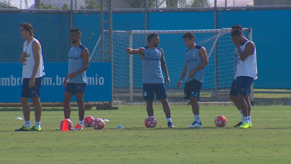 Treino do Grêmio no CT Luiz Carvalho  — Foto: Reprodução