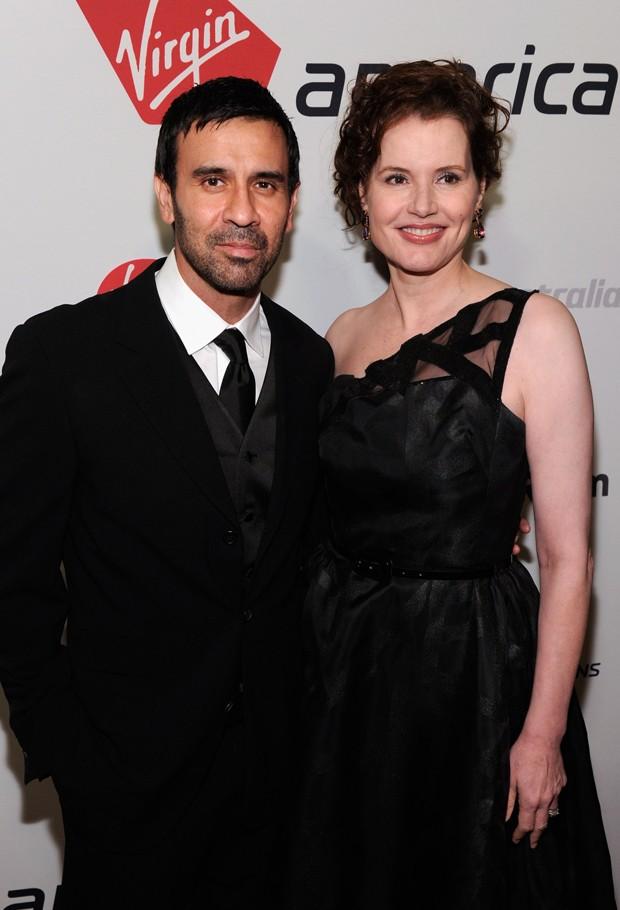 Reza Jarrahy e Geena Davis (Foto: Getty Images)
