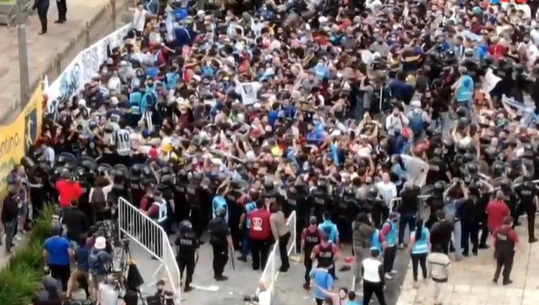 Polícia confusão Casa Rosada