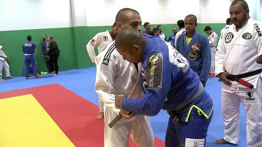 Rodrigo Minotauro realiza treinamento para aproximar o Judô e o Jiu-Jitsu Paralímpico