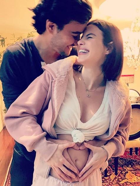 Sthefany Brito com o marido (Foto: Arquivo pessoal)