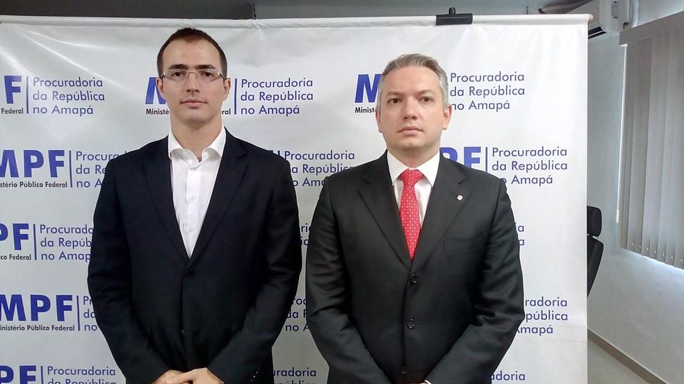 Joaquim Cabral e Antônio Diniz, procuradores do MPF-AP (Foto: John Pacheco/G1)