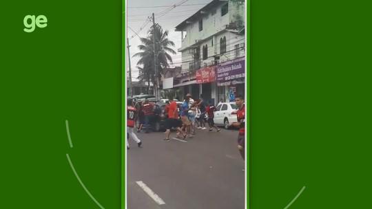 """Vídeo: dezenas de flamenguistas atacam vascaíno e quebram seu carro em Manaus: """"Sorte de estar vivo"""""""
