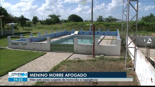 Mãe presa por negligência nega ter deixado filho se afogar em piscina na cidade de Mari, PB