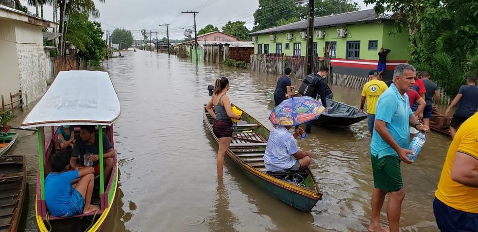 Mais de 400 moradores estão desabrigados em Tarauacá — Foto: Gleydison Meireles/Arquivo pessoal
