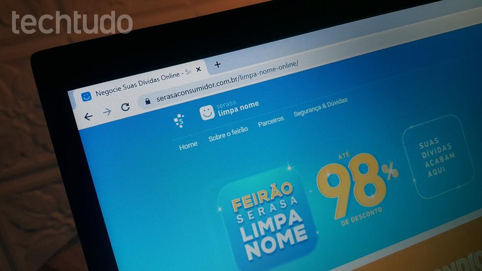 Feirão da Serasa tem até 98% de desconto para limpar nome — Foto: Paulo Alves/TechTudo