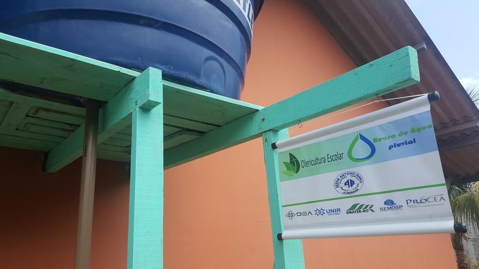 Projeto foi criado por alunos de Engenharia Ambiental da Unir (Foto: Pâmela Fernandes/G1)