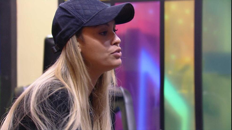 Sarah conversa sobre o próximo Paredão do BBB21 — Foto: Globo