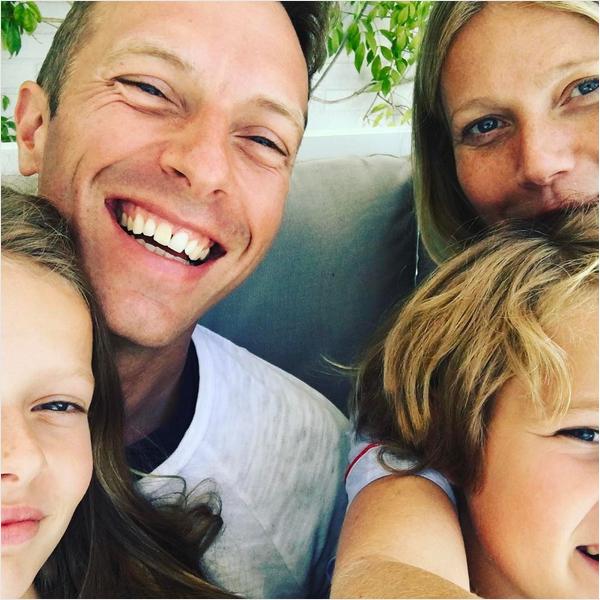 A atriz Gwyneth Paltrow com o ex-, Chris Martin, e os filhos dos dois (Foto: Instagram)