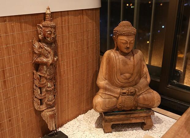 Buda maior do espaço zen de Marina Elali (Foto: Reginaldo Teixeira / Ed. Globo)