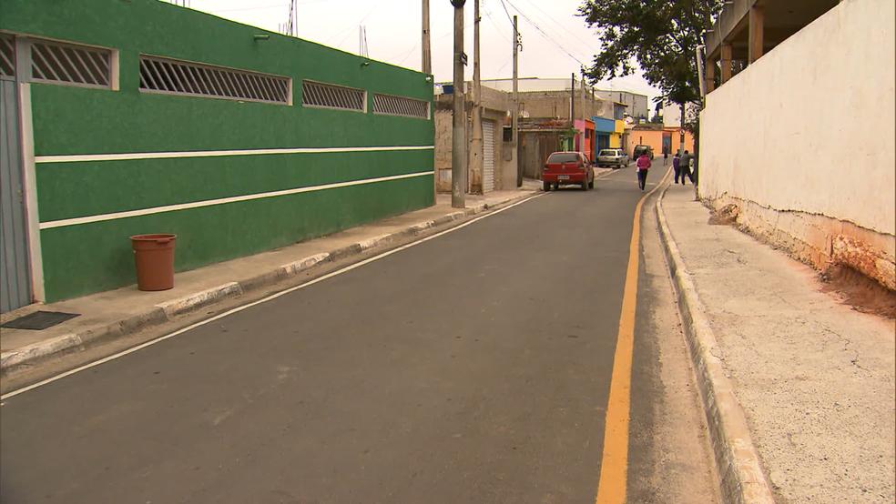 Menina Vitória Gabrielly foi vista pela última vez em rua de Araçariguama (Foto: Witter Veloso/TV TEM)