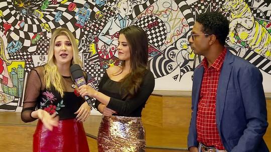 Dani Calabresa e Luís Miranda participam de esquenta para o 'Divã do Faustão'