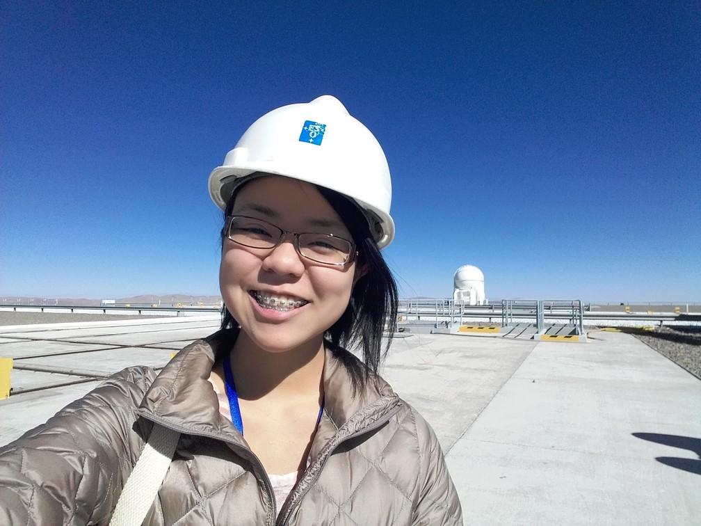 Miriam durante a visita do Observatório Cerro Paranal, no Chile  (Foto: Arquivo pessoal )