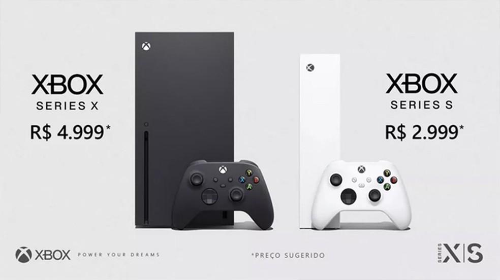 Xbox Series X e Xbox Series S têm sua pré-venda iniciada nas principais lojas do Brasil — Foto: Reprodução/Microsoft