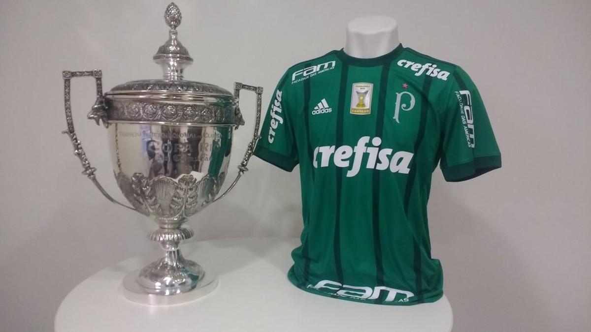4bd2371c01 Palmeiras inclui estrela vermelha sobre o escudo para celebrar Copa  Rio-1951
