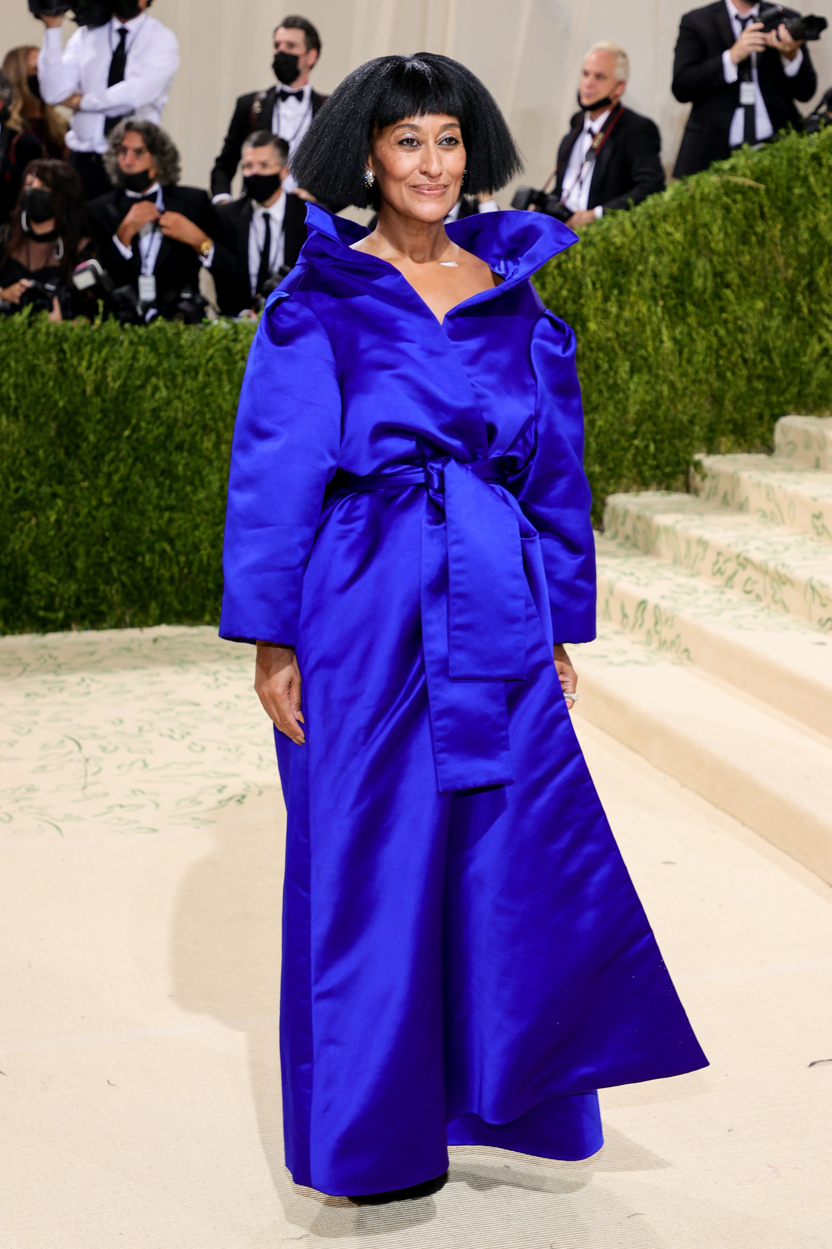 NEW YORK, NEW YORK - SEPTEMBER 13: Tracee Ellis Ross attends The 2021 Met Gala Celebrating In America: A Lexicon Of Fashion at Metropolitan Museum of Art on September 13, 2021 in New York City. (Photo by Theo Wargo/Getty Images) (Foto: Getty Images)