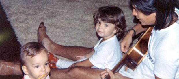 Sandy relembra fotos de infância (Foto: Reprodução)