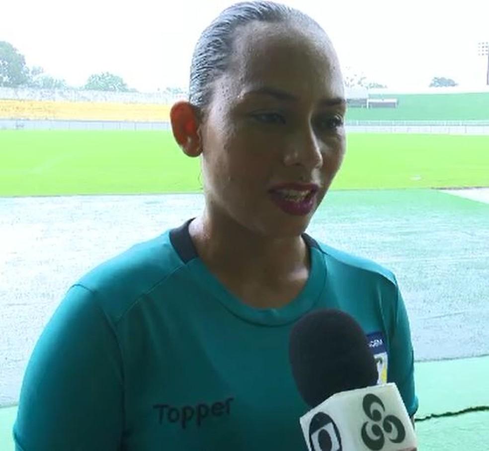 Roseane Amorim era jogadora de futebol — Foto: Reprodução/Rede Amazônica