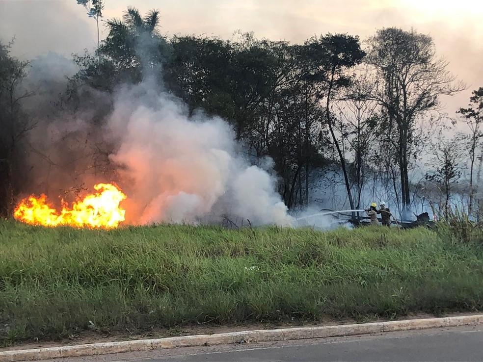 Denúncias e flagrantes de queimadas seriam investigadas por uma delegacia especializada da Polícia Civil — Foto: Ana Paula Xavier/Rede Amazônica Acre
