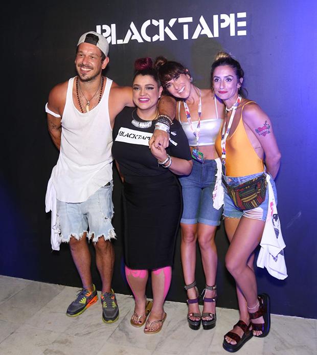 João Vicene, Preta Gil, Fernanda Paes Leme e Camila Lucciola (Foto: Icaro Cerqueira/ Ed. Globo)