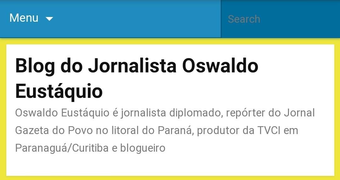 Blog criado por Eustáquio em 2012