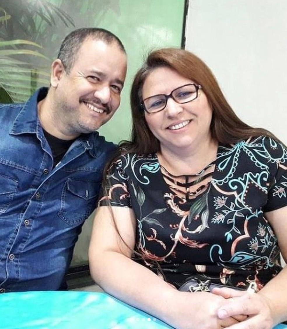 Cléo Subtil e o esposo  — Foto: Reprodução/Redes Sociais