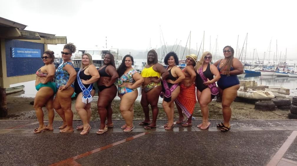 """""""Nós vamos para a rua para lutar contra a gordofobia. Precisamos acabar com isso. Nosso ato hoje tem mulheres de outros estados"""", disse Adriana Santos, organizadora do grupo — Foto: Arquivo Pessoal"""
