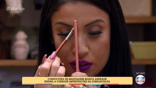 Blogueira Bianca Andrade ensina a corrigir imperfeições da sobrancelha